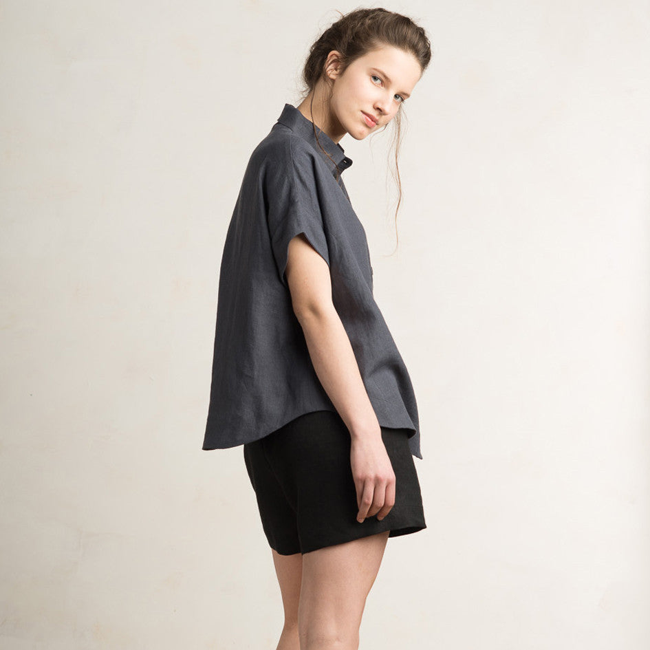 LHI Loose fit linen shirt for women