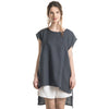 Charcoal linen tank top for women