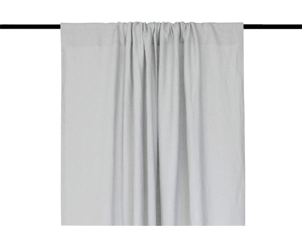 Dove grey linen curtains by Lovely Home Idea
