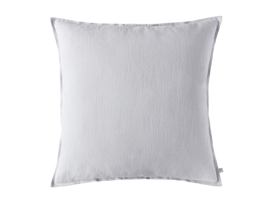 Dove grey linen decorative pillow cover by Lovely Home Idea