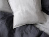 Dove grey linen pillow cover
