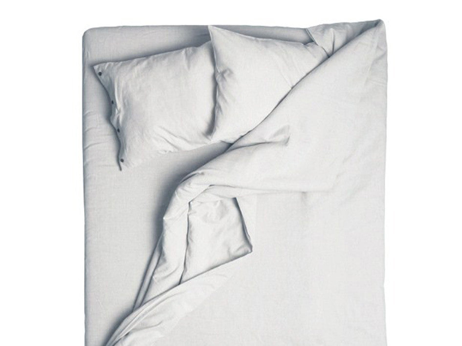Dove grey linen duvet cover by Lovely Home Idea
