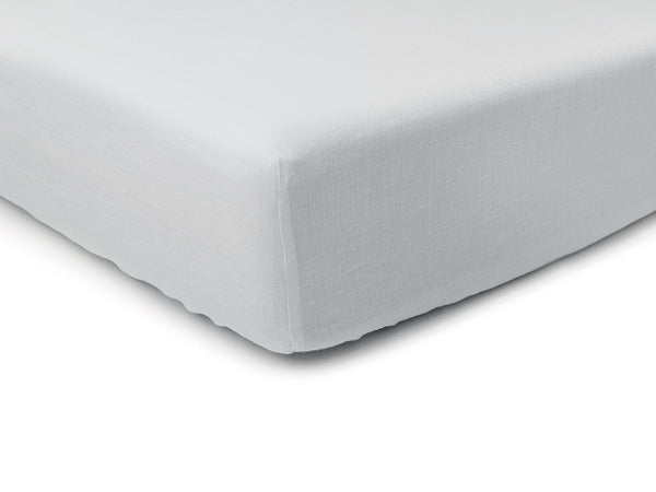 Dove grey linen fitted sheet by Lovely Home Idea