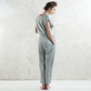 Dove grey linen pants for women