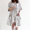 Dove grey linen robe