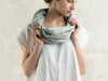 Dove grey linen infinity scarf by LHI