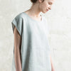 Comfy loose fit linen top for woman