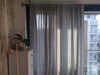 Dove grey linen window curtains by Lovely Home Idea