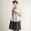 LHI dove grey linen shirt