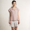 Dusty rose linen women's top