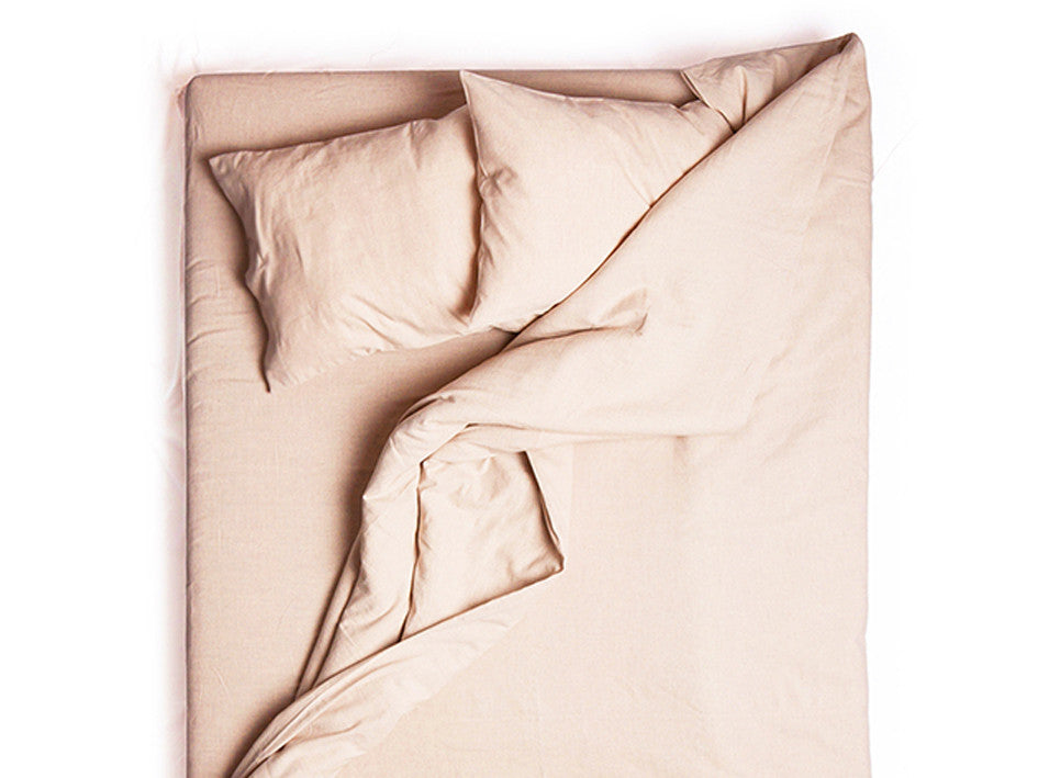 Dusty rose linen duvet cover by Lovely Home Idea