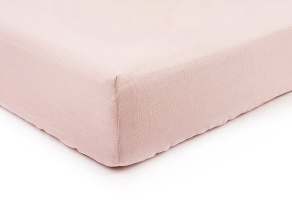 Dusty rose linen fitted sheet by Lovely Home Idea