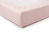 Dusty rose linen fitted sheet
