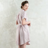 Short linen shirt dress by LHI