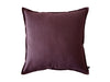 Linen decorative pillow cover Eggplant