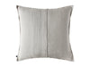 Flax grey linen decorative pillow cover back side