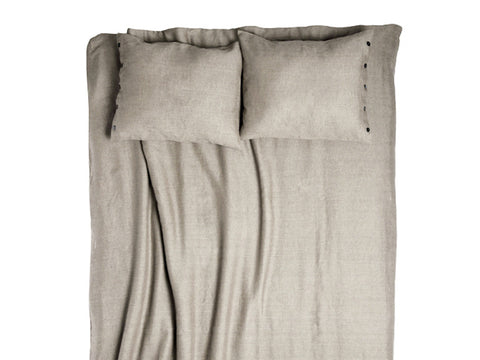 Lovely Home Idea flax grey linen duvet cover
