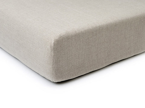 Flax grey linen fitted sheet by Lovely Home Idea