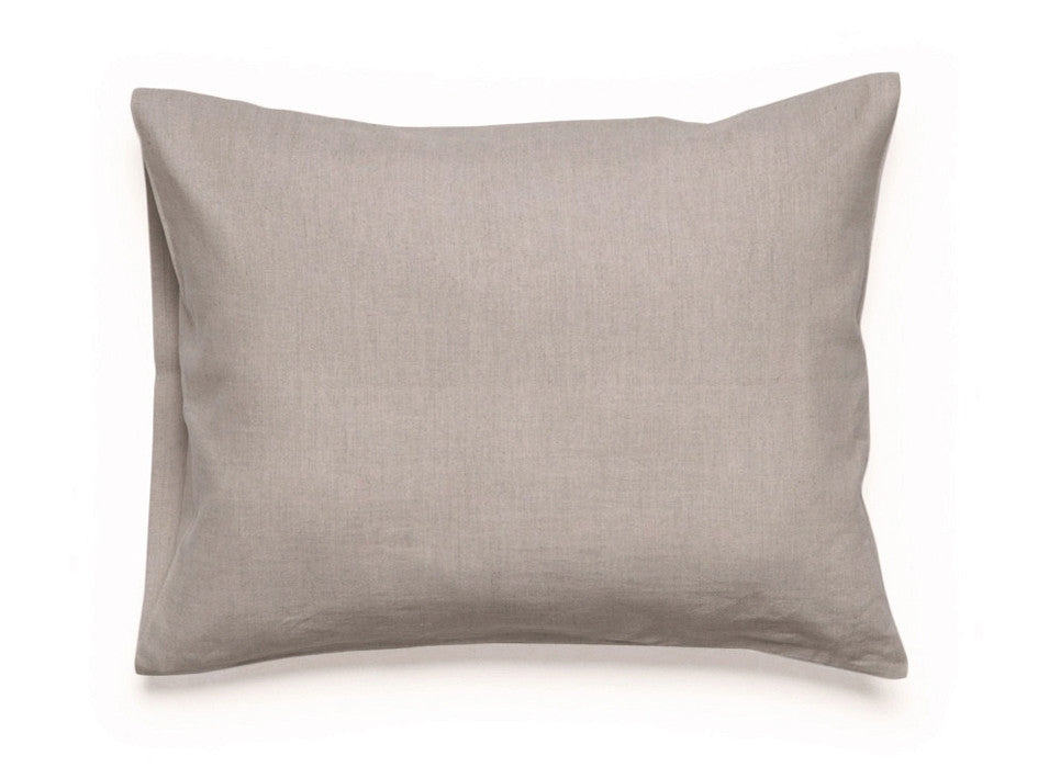 Flax grey linen pillowcase by Lovely Home Idea