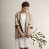 Linen jacket for woman