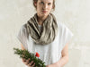 Natural linen scarf by LHI