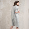 light grey linen dress