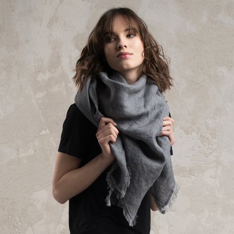 Soft wool shawl wrap Grey by Lovely Home Idea