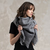 Large wool scarf for women
