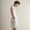 LHI white linen skirt