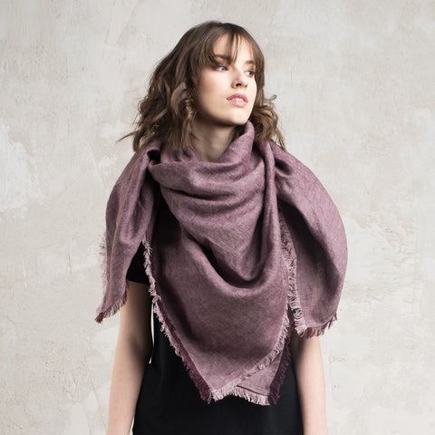Soft wool shawl wrap Purple by Lovely Home Idea
