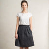 Knee length linen skirt with pockets