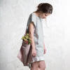 Dove grey linen tunic for women