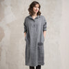Casual wool dress with pockets