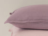 Light purple linen cushion
