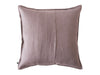 Light purple linen decorative pillow cover back side