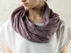 LHI light purple linen infinity scarf