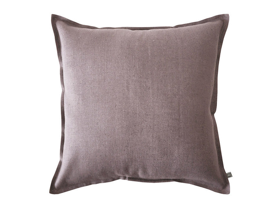 Light purple linen decorative pillow cover