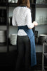 Long full linen apron for women