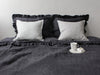 Luxury linen bedding with ruffles by Lovely Home Idea