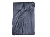 Charcoal linen duvet cover with black buttons