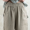 Linen pants with elastic