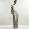 Linen pants in flax grey