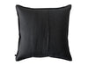 Black pillow cover back side