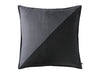 Linen decorative pillow cover in black and charcoal