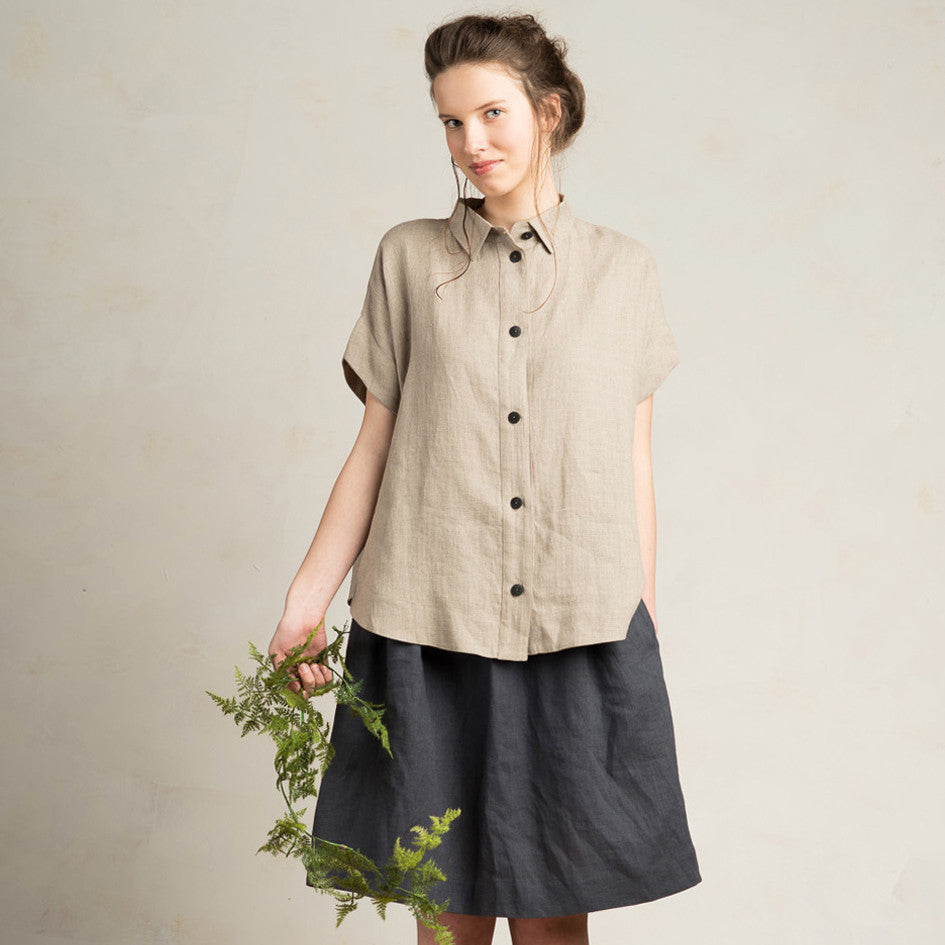 LHI Loose fit linen women's shirt