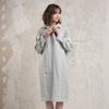 dove grey linen dress