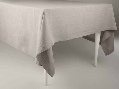 Flax grey linen tablecloth by Lovely Home Idea