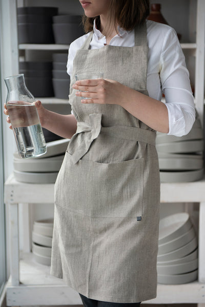 Lovely Home Idea Full linen apron