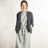Charcoal linen jacket for woman