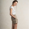 Natural linen shorts for woman